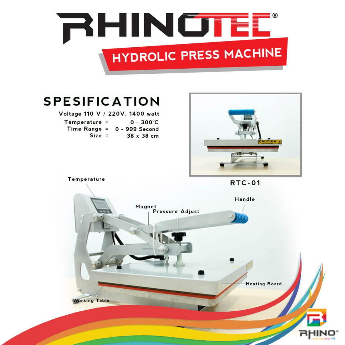Alat sablon mesin press rhinotec (5)
