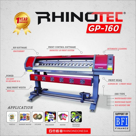 CUTTING STICKER RHINOTEC GP160