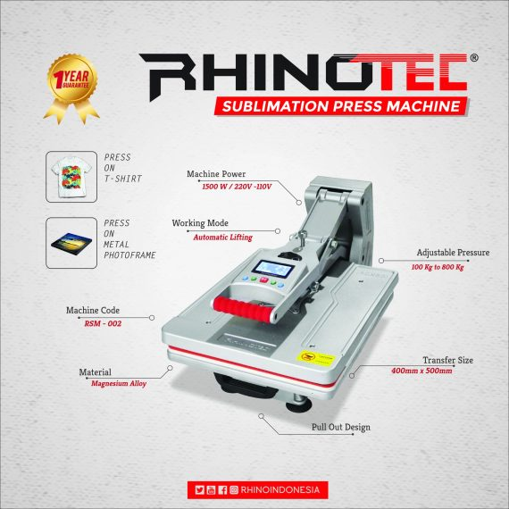 3 Jenis Mesin Press Sublime Terbaru Rhinotec