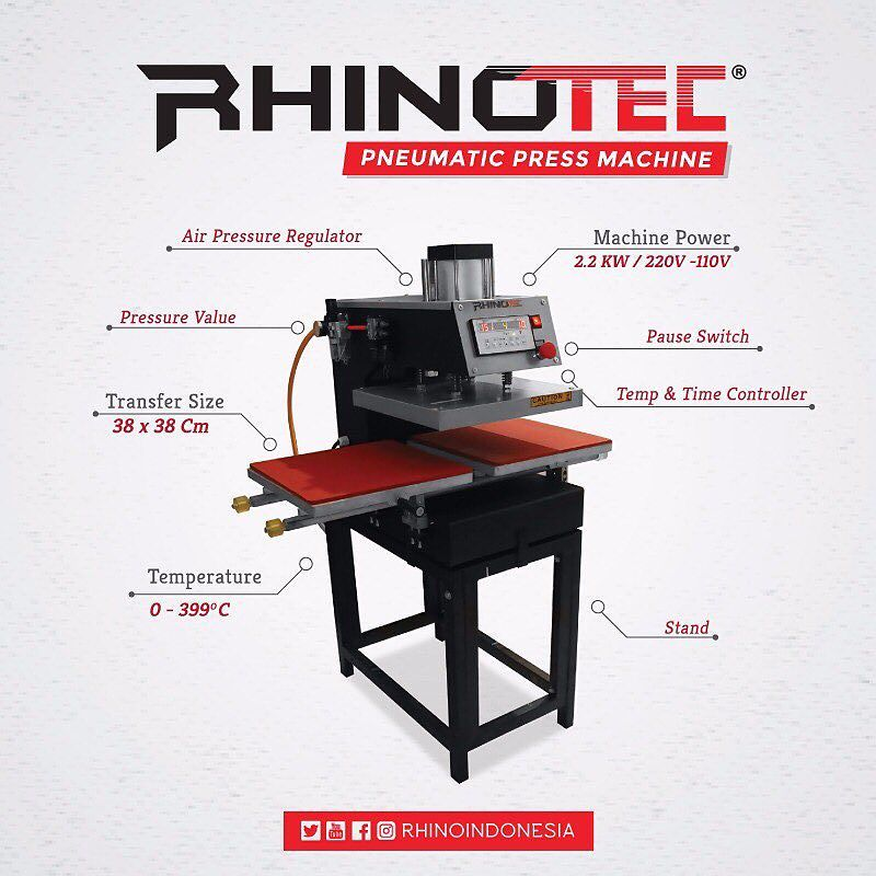 TERBARU : Mesin Press Pneumatic Rhinotec 2 Sisi
