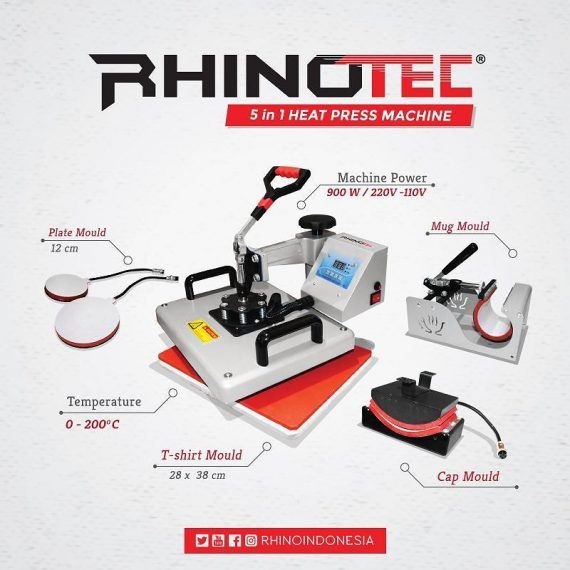 Mesin Press 5 in 1 Rhinotec