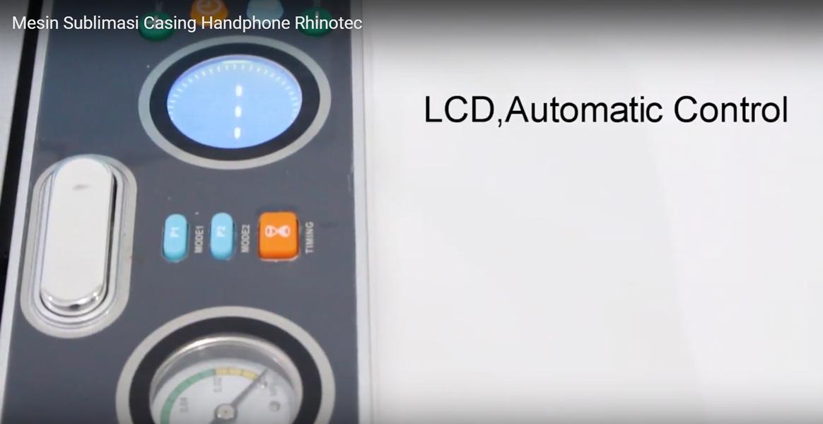 LCD dan automatic control mesin casing rhinotec
