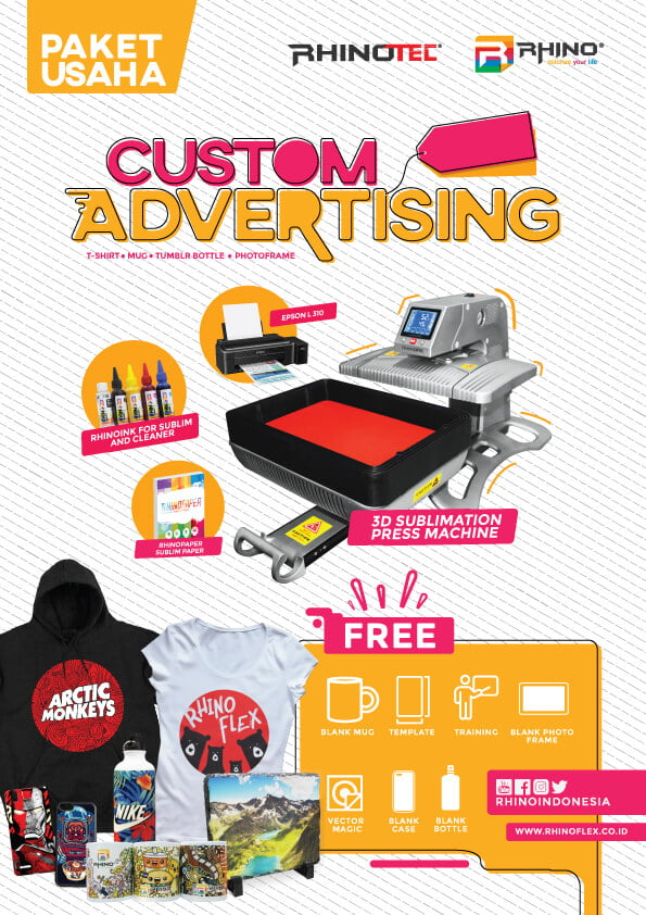 paket usaha sablon custom ADVERTISING
