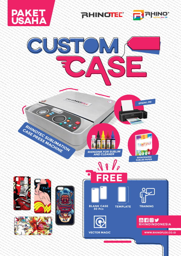 paket usaha sablon custom CASE