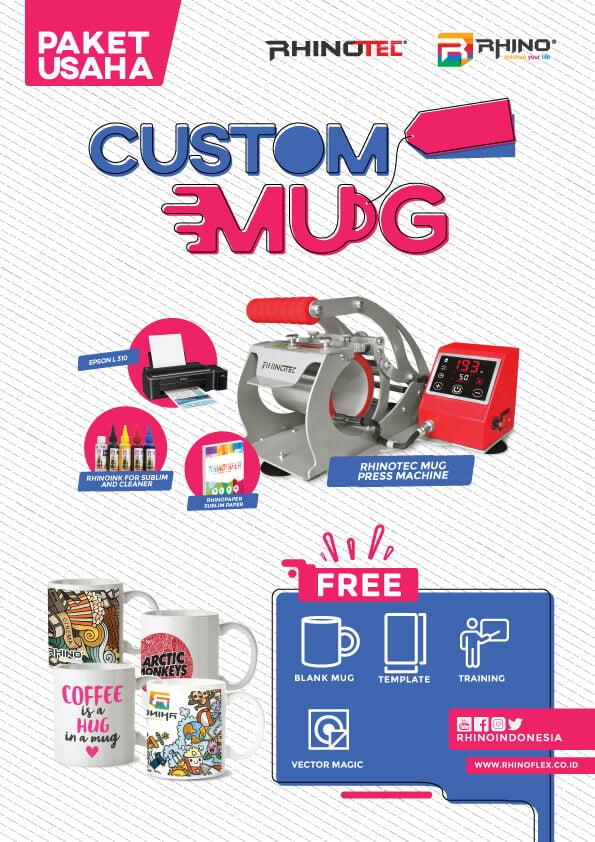 paket usaha sablon custom MUG