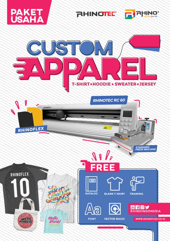 paket usaha sablon custom apparel