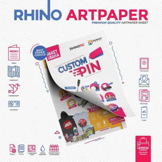 Rhino Art Paper jenis kertas art paper, harga kertas art paper, kertas art paper a3, art paper glossy, kegunaan kertas art paper, kertas art paper warna.