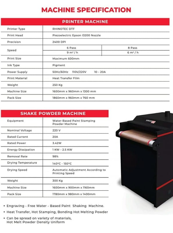 Mesin Printing DTF ( Direct Transfer Polyflex )